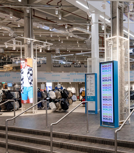Primark store lightboxes and SEG fabric frames